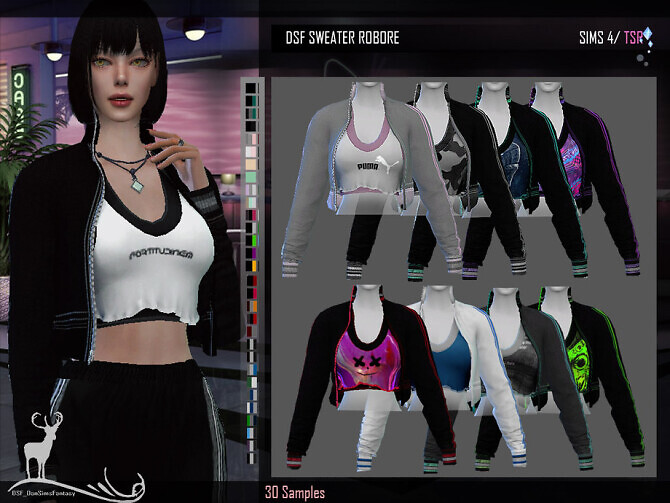 Sims 4 DSF SWEATER ROBORE by DanSimsFantasy at TSR