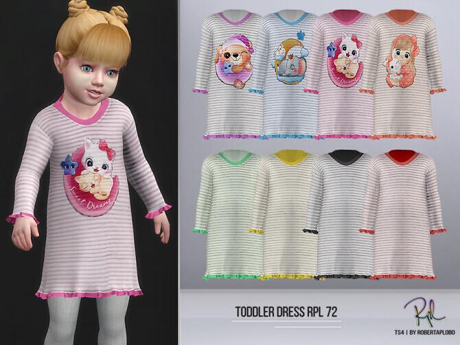 Sims 4 Toddler Dress RPL72 by RobertaPLobo at TSR