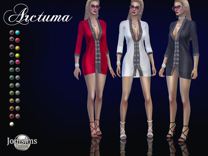 Sims 4 Arctuma dress by jomsims at TSR