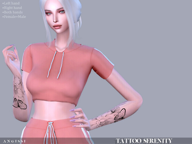 Sims 4 Serenity tattoo by ANGISSI at TSR