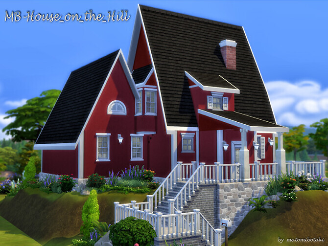 Sims 4 MB House on the Hill by matomibotaki at TSR