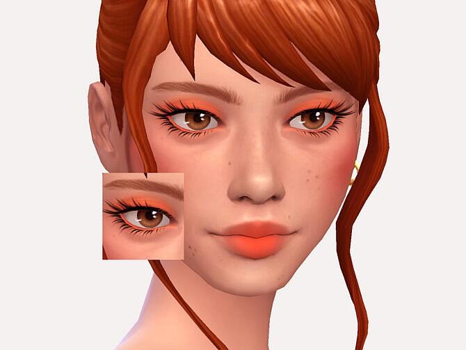 Sims 4 Sweet Peach Eyeshadow by Sagittariah at TSR