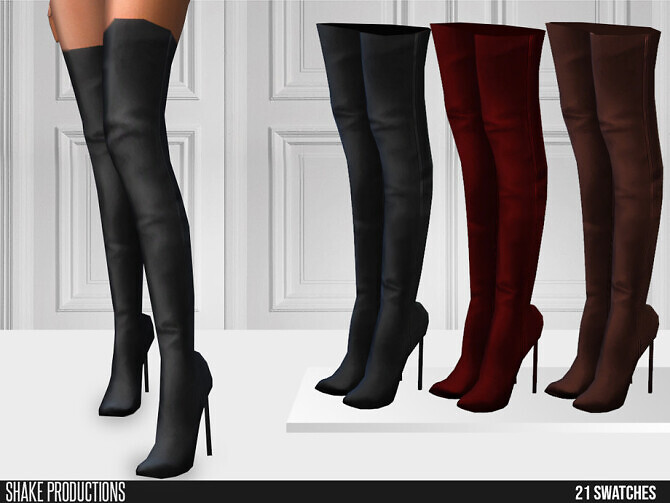Sims 4 598 High Heel Boots by ShakeProductions at TSR
