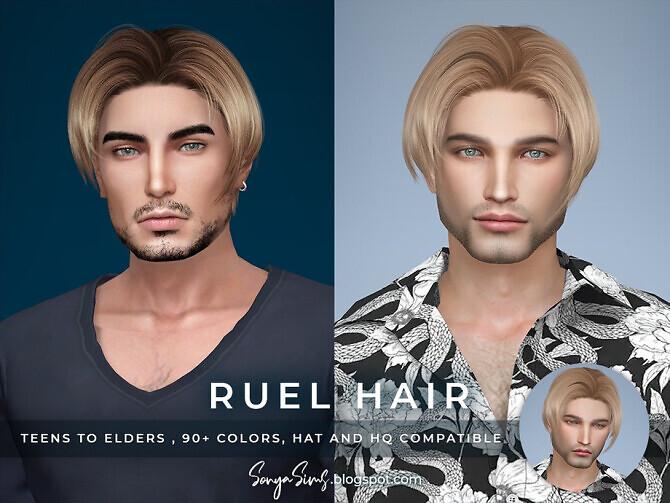 Sims 4 Ruel Hair Males by SonyaSimsCC at TSR