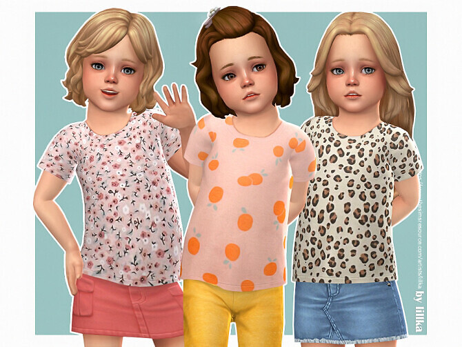 T-Shirt Toddler Girl P13 by lillka