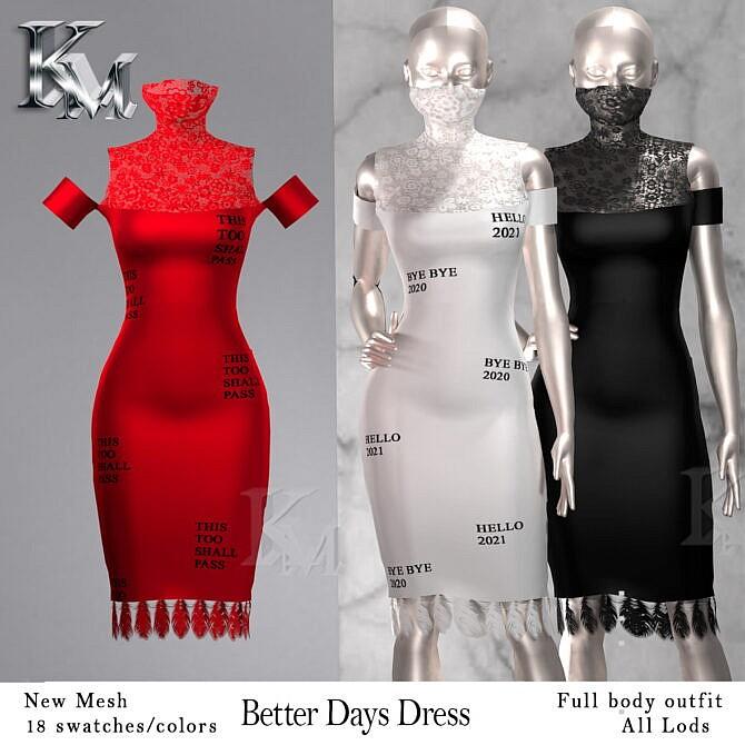 Sims 4 Better Days Dress at KM