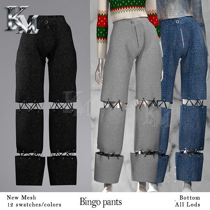 Sims 4 Bingo Pants at KM