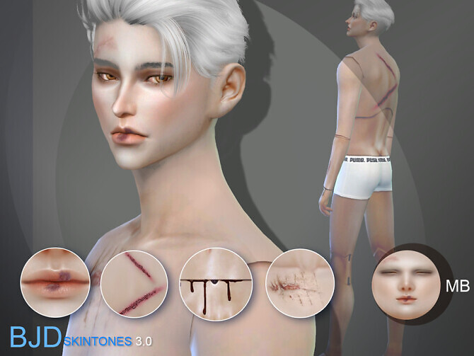 Sims 4 BJD3.0 Doll skintones B for male by S Club WMLL at TSR