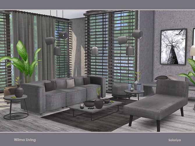 Sims 4 Wilma Living by soloriya at TSR