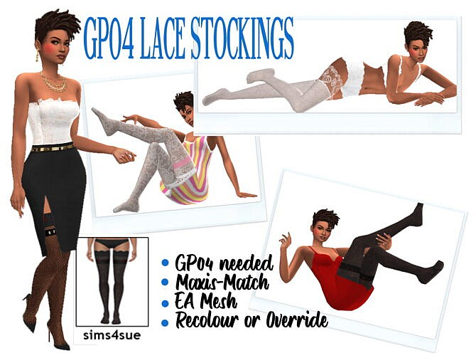Sims 4 GP04 LACE STOCKINGS at Sims4Sue