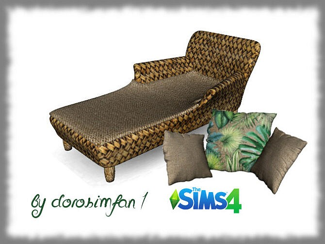 Sims 4 Garden lounger by dorosimfan1 at Sims Marktplatz