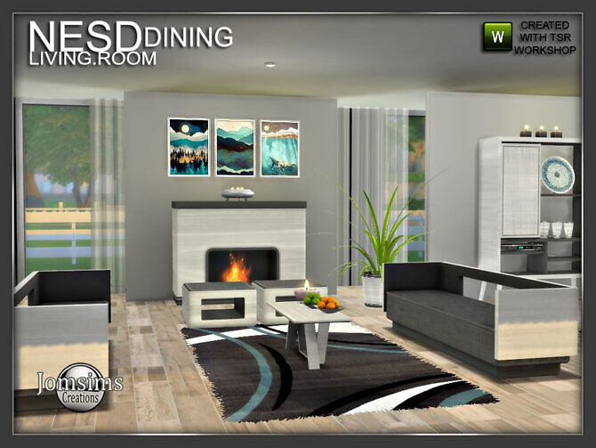 Sims 4 Nesd dining room part 2 by jomsims at TSR