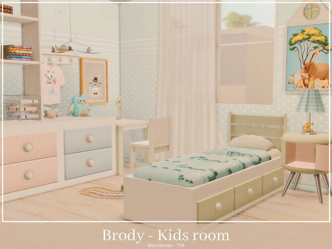 Sims 4 Brody Kids room by Mini Simmer at TSR