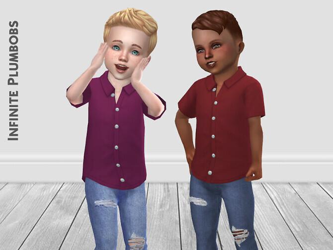Sims 4 IP Toddler Silk Shirt by InfinitePlumbobs at TSR