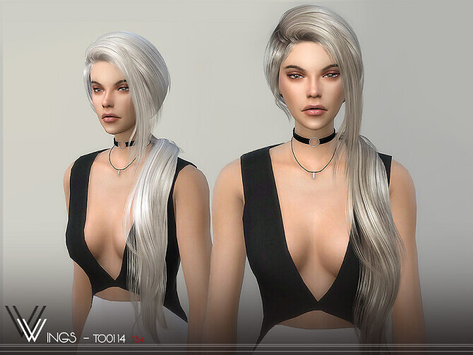Sims 4 WINGS TO0114 hair by wingssims at TSR