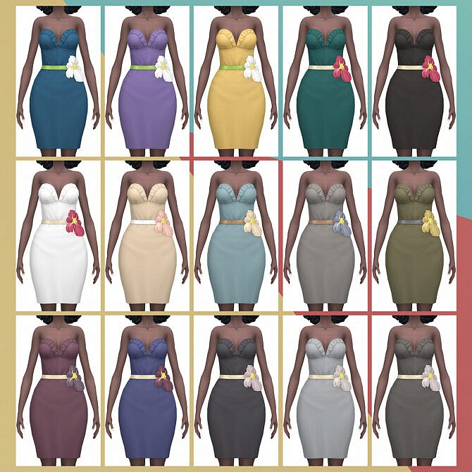 Sims 4 Island Paradise Fiesta Dress at Busted Pixels