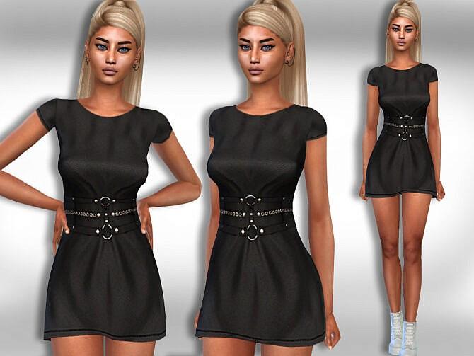 Sims 4 Casual Short Sleeve Dress by Saliwa at TSR