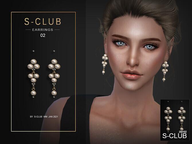 Sims 4 PEARL EARRINGS 202102 by S Club WM at TSR