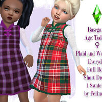 Toddler Plaid And Wool Dress By Pelineldis