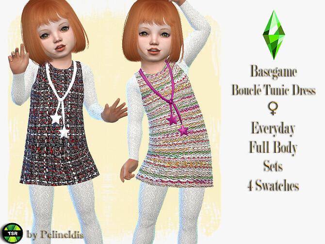 Toddler Boucle Tunic Dress by Pelineldis
