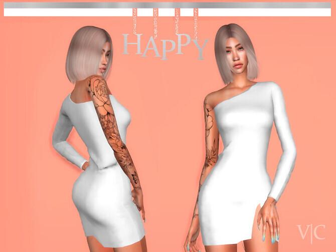 Sims 4 Dress NewYear III   VI by Viy Sims at TSR