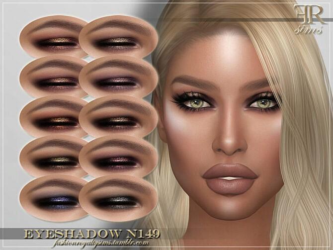 Sims 4 FRS Eyeshadow N149 by FashionRoyaltySims at TSR