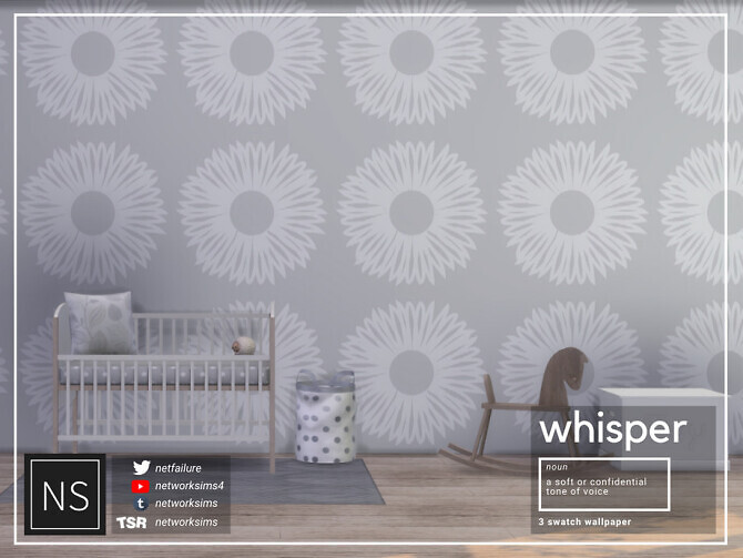 Sims 4 Whisper Wallpaper by Networksims at TSR
