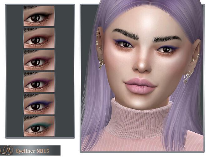 Sims 4 Eyeliner NB15 at MSQ Sims