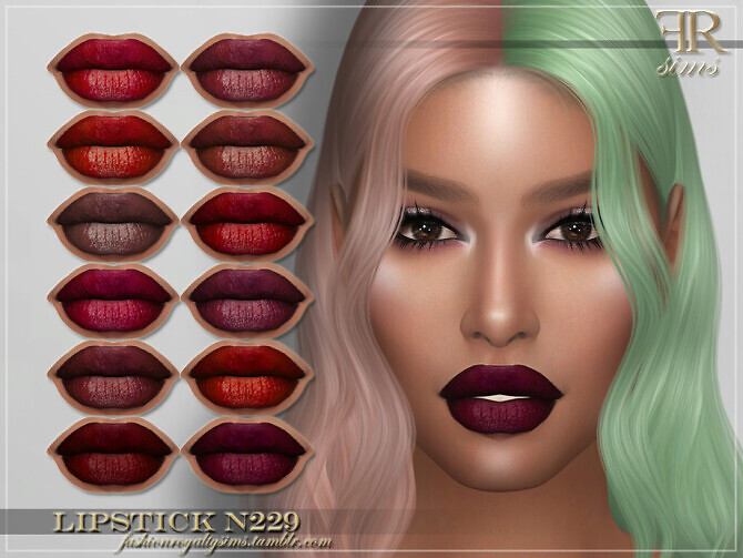 Sims 4 FRS Lipstick N229 by FashionRoyaltySims at TSR