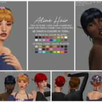 ALINE SIMS 4 HAIR