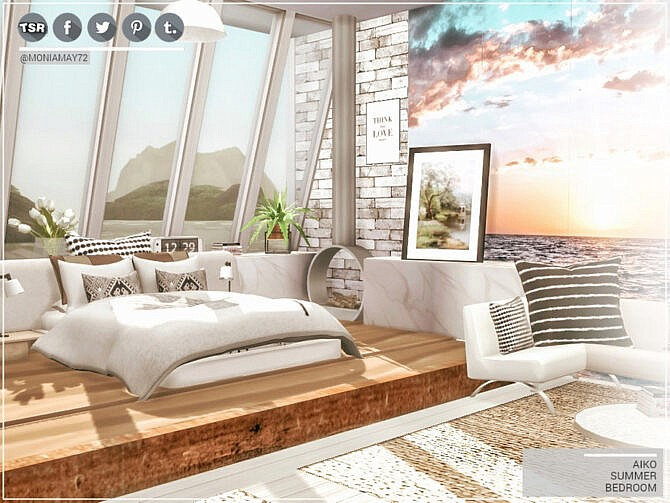 Sims 4 Aiko Summer Bedroom by Moniamay72 at TSR