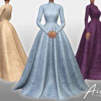 Aisha Sims 4 Long Dress by Sifix