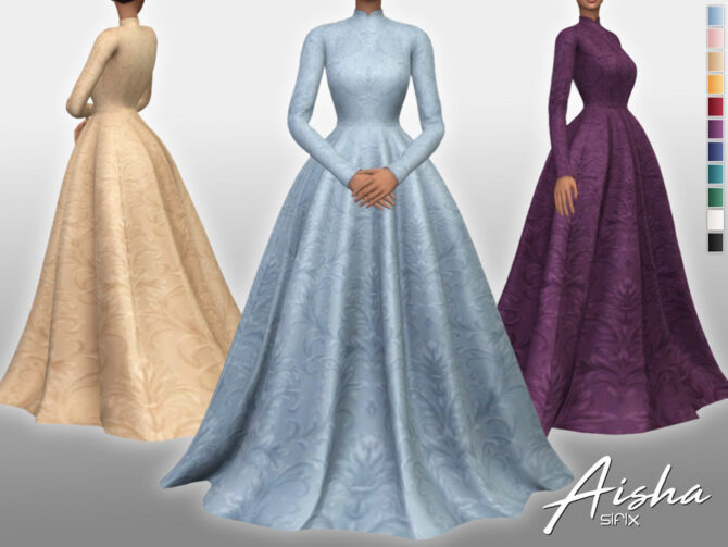 Aisha Sims 4 Long Dress by Sifix