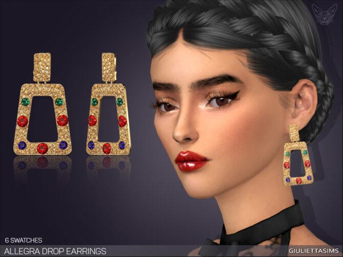 Allegra Drop Earrings Sims 4