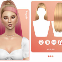 Angele Sims 4 Hairstyle by EnriqueS4