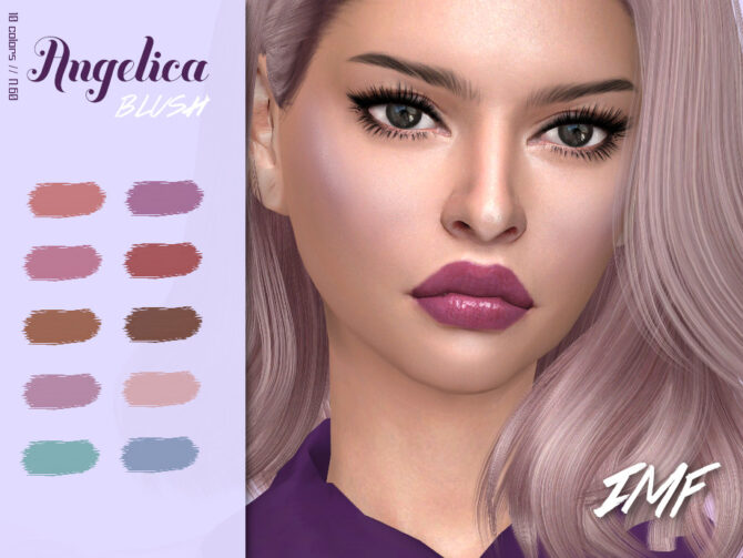 Sims 4 Angelica Blush N.60 by IzzieMcFire at TSR