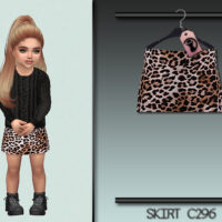 Animal Print Sims 4 Skirt for Toddlers