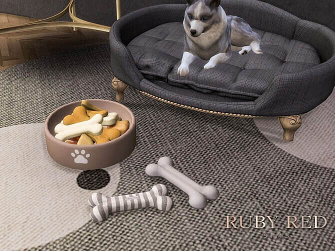 Sims 4 LORD LOU Antoinette Pet Bed Set at Ruby Red