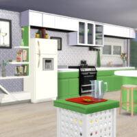 Apple White Kitchen Sims 4