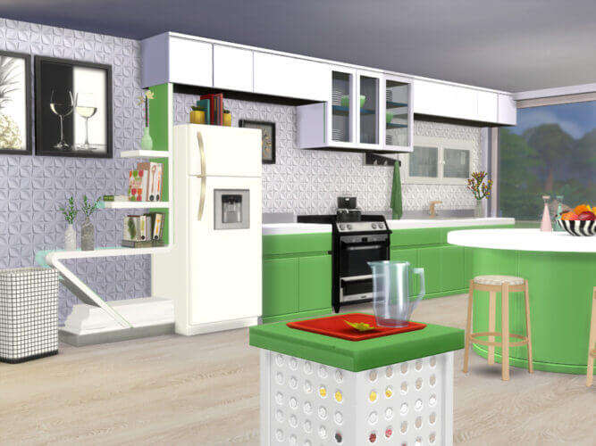 Apple White Kitchen Sims 4