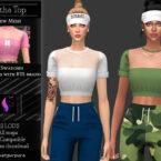 Aretha Top Sims 4 CC by KaTPurpura