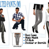 BELTED SIMS 4 PANTS MALE