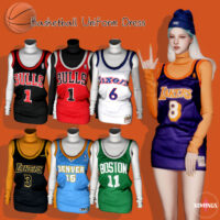 Basketball Uniform Sims 4 Dress