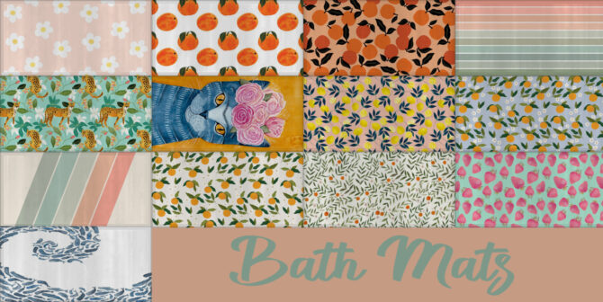 Sims 4 Bath Mats at Sooky