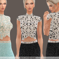 Beaded Cropped Sims 4 Top