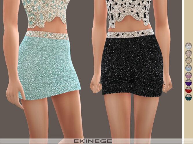 Beaded Mini Sims 4 Skirt