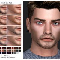 Beard N08 by Merci for Sims 4