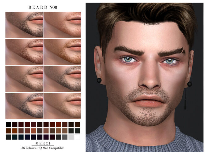 Beard N08 by Merci for Sims 4