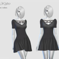 Black Sims 4 Dress by pizazz