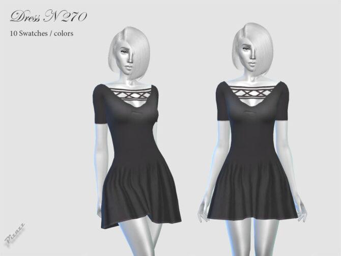 Black Sims 4 Dress by pizazz